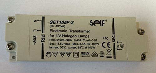 SELF Halogen Trafo 105VA SET 105 F - 2 35 - 105 VA Watt Transformator elektronisch