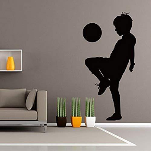 Voetbal voor kinderen - voetbal wooncultuur ideeën slaapkamer kinderkamer afneembare muursticker 57 * 116 cm