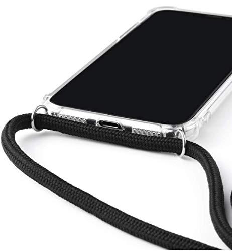 S+Mart Handy Schutzhülle + Trageband / Handy Umhängeband Huawei P30 schwarz
