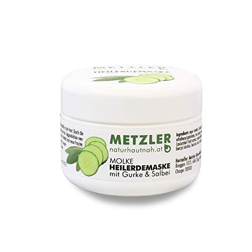METZLER Molke Heilerdemaske Mit Gurke Und Salbei, Porentiefe Reinigung Und Gesichtspflege, 1er Pack(1 x 50 ml)