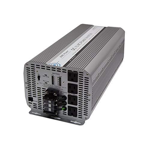 AIMS 8000 Watt / 16,000 Watt Peak Power Inverter, Digital Meters, AC Terminal Block, Optional Remote 66 Amps (8kW)