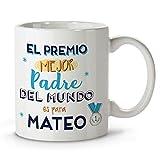 LolaPix Taza Día del Padre. Regalos Personalizados con Nombre y Texto. Tazas con Frases Originales. Mejor Naranja