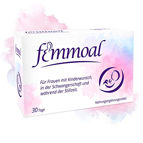Femmoal Plus - Nährstoffe für Kinderwunsch, Schwangerschaft & Stillzeit - Vitamine & Mineralstoffe wie Folsäure, Jod + DHA – 1-Monats-Packung à 60 Kapseln