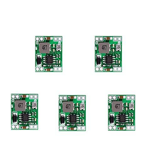 5 Stück MP1584EN Step Down Converter - 4,5-28V bis 0,8-20V Einstellbar Spannungswandler DC DC Wandler, 4mm Dicke Ultra Kleine Buck Converter 3A für Arduino DIY