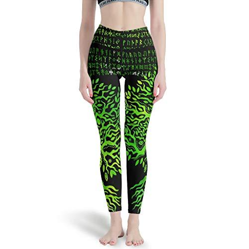 Pantalones de yoga para mujer, estampados, elásticos, ideales para correr, color blanco