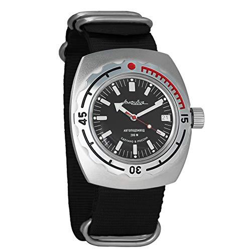 Vostok Amphibian Orologio da polso automatico da uomo, a carica automatica, orologio da polso militare subacqueo anfibio #090662 Cruz V2 Fresh Foam