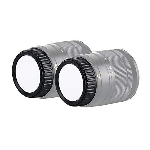 Copriobiettivo posteriore per fotocamera Fujifilm X-Mount DSLR SLR, accessorio per Fujifilm X-PRO1, X-T2, X-T3, X-T20, X-T30, X-E2, X-A1, X-A5, cancellabile e ri-label Mark Focal Ranges, 2 pezzi