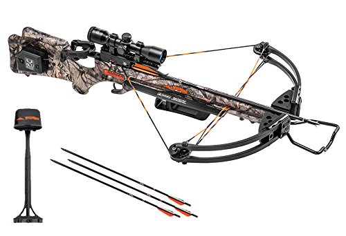 Wicked Ridge Invader G3 Crossbow Package with 3x Multi-Line Scope, 3 Carbon Arrows, and Quiver