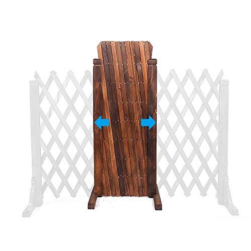 Zaun, Holz ausdehnend Zaun Gate Panel, karbonisierte Korrosionsschutz-Korrosion verdickte Gitter für Kletterpflanzen Outdoor-Partition dekorativ, hight70-120cm, kann bis 160 cm dehnen
