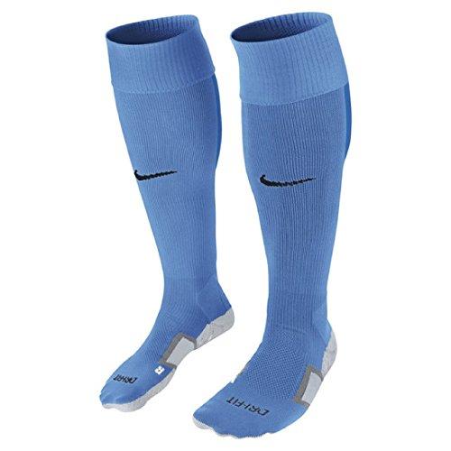 NIKE Elite Dri-Fit Cushioned Performance Unisex Stadium Soccer OTC Socks (Sky Blue/University Blue)