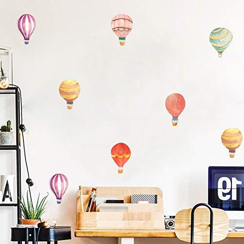 PISKLIU Muurstickers, 36 stuks, kleurrijke set, vuur, ballon, knutselen, muurstickers, comic, kinderkamer, grappig, wandsticker, party, kastdecoratie