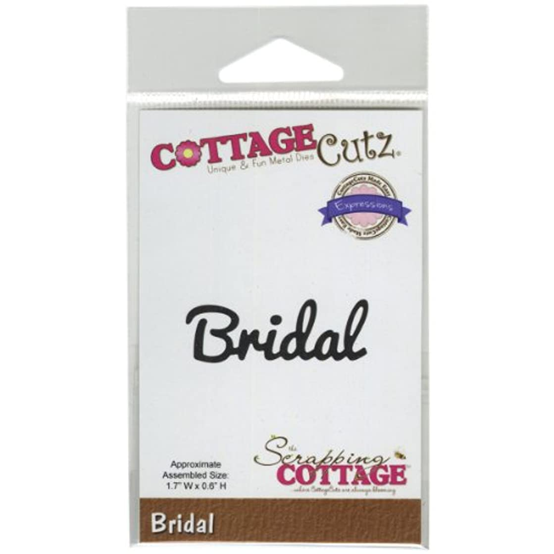 CottageCutz Expressions Die Cuts, 1.7 by 0.6-Inch, Bridal