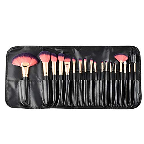 Lfny-bag Makeup Brushes, 32 Pcs Professional Premium Synthetic Makeup Brush Set for Foundation Blush Concealer Eyeshadow with Travel Pouch-Black,18