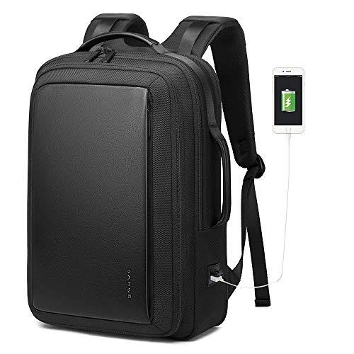 Panda Business Laptop Rugzak Für 15,6-Zoll-Laptop-Alarm Schulrucksack Mit USB-Ladeanschluss Wasserdichter Rugzak Für Männer Und Frauen - Schwarz