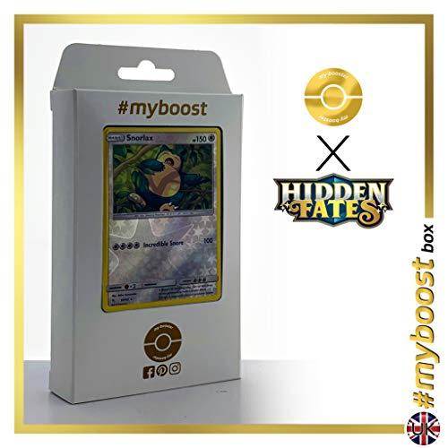 Snorlax (Relaxo) 50/68 Wendbare Holo #myboost X Sun & Moon 11.5 Hidden Fates - Box mit 10 Englische Pokémon-Karten