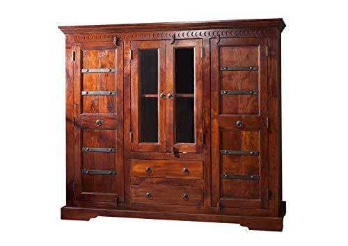 MASSIVMOEBEL24.DE Kolonialart Highboard Akazie massiv Möbel Oxford #418