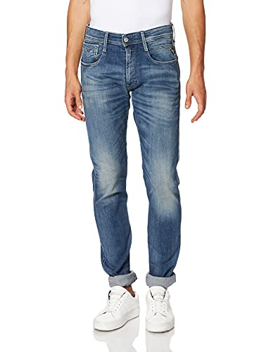 REPLAY Anbass Jeans, Medium Blue 584, 27W / 32L Uomo