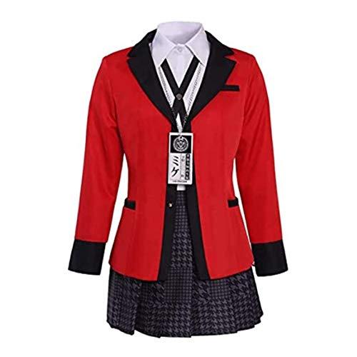 Japanische Anime Schuluniform Kakegurui Jabami Yumeko Cosplay Komplettes Set Kostüm Langarm Mädchen Schüler Schuluniformen JK Cosplay Anzug