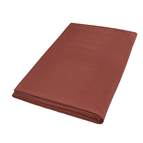 MODERNO Baumwolle Decke -Waffel Tagesdecke Plaid Überwurf Größe 150x250cm in Braun Chocolate Ökotex Zertifziert