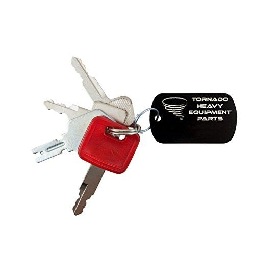 Construction Heavy Equipment Master Keys Set-Ignition Key Ring, Hitachi, 4 Key Set For Men and Women - Tornado Heavy Equipment Parts