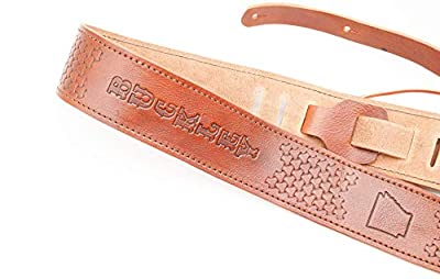 Personalized Leather Custom Name Guitar Strap