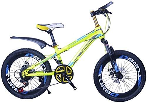 Kinderfahrräder Mountainbike Außenbergstudenten Fahrrad Erwachsene Kinder Variable Speed Fahrrad 3 ~ 15 Jahre alt Pedal Fahrrad (Farbe: Gelb, Größe: 22inch) lalay ( Color : Yellow , Size : 22inch )