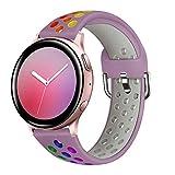 Syxinn Compatibile per 20mm Cinturino Galaxy Watch Active/Active 2 40mm 44mm/Galaxy Watch 4/4 Classic/Watch 3 41mm Cinturini Silicone Braccialetto Fascia Polso per Galaxy 42mm/Gear Sport/S2 Classic