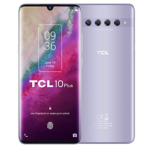 "TCL 10 Plus, 6.47"" FHD+ AMOLED Curved, Quad Cam 48+8+2+2MP, 6GB+256GB, Octa Core, Starlight Silver [Versione Italiana]"