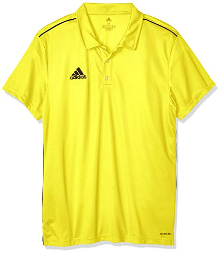 adidas Core 18 Polo Polo, Uomo, Yellow/Black, L
