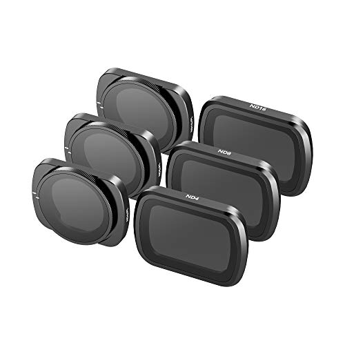 Skyreat Kamera Objektiv ND Filtersatz 6-Pack (ND4, ND8, ND16, ND4PL, ND8PL, ND16PL) Kompatibel mit der DJI DJI Osmo Pocket,Pocket 2 Gimbal Kamera Zubehör