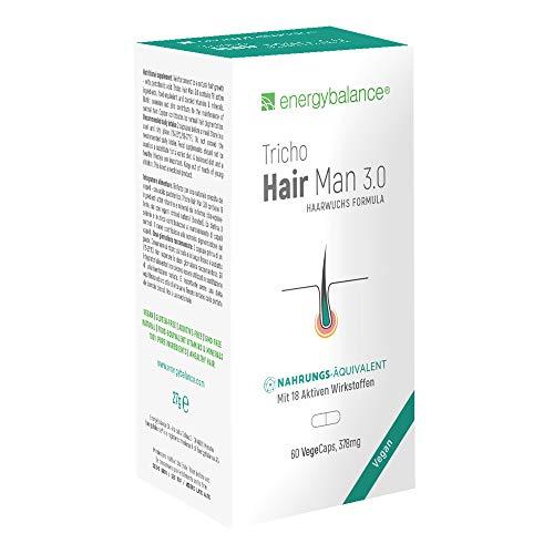 Tricho Hair Man 3.0 Vegan 378 mg - haaruitval mannen - rijk van biotine - selen, zink en veel meer - GVO-vrij - zonder additieven - 60 VegeCaps