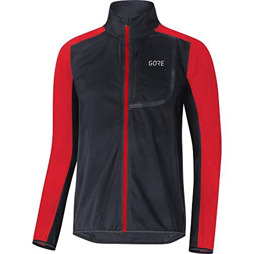 GORE Wear C3 Men's GORE WINDSTOPPER Jacket , S, Black/Red