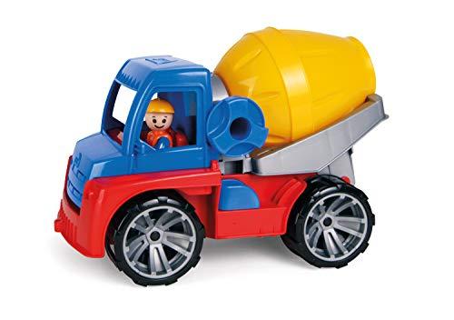 Lena 4413 04413-Truxx Betonmischer, Spielfahrzeug ca. 29 cm, Mischerfahrzeug mit Spielfigur, Baufahrzeug für Kinder ab 2 Jahre