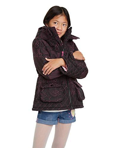 Desigual Mädchen Coat Clementina Mantel, Schwarz (Negro 2000), 104 (Herstellergröße: 3/4)