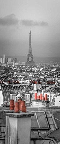 IMPRESION-sur-PAPIER-Paesaggio-urbano-di-Montmartre-con-la-Torre-Eiffel,-Parigi,-Francia-Frank-Assaf-européen-Affiche-roulée-fine-art- pour-cadre-Poster-pour-décoration-murale-dimensions-107_X_43_cm