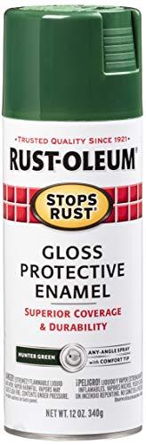 Rust-Oleum 7738830 Stops Rust Spray Paint, 12-Ounce, Gloss Hunter Green