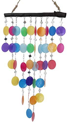 Guru-Shop Muschel Mobile, Ethno Windspiel, Sonnenfänger - Bunt, Mehrfarbig, 60x30x2 cm, Traumfänger, Mobiles