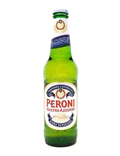 24 Flaschen Peroni Nastro Azzuro Italien 0,33L alc. 5,5% vol.inc. 6.00€ EINWEG Pfand