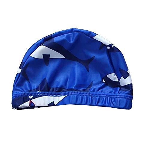 スイムキャップ キッズ 水泳キャップ キッズ 伸縮性良い 水泳帽キッズ 男の子 幼児 水泳帽こども 水泳帽キッズ UVカット 滑りにくい サメ1−6歳