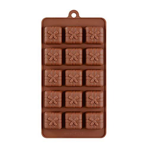 Gekai Moule à biscuits en silicone en forme de moule de découpe en acier inoxydable