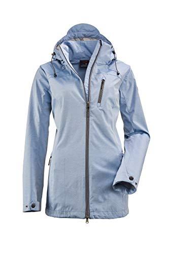 G.I.G.A. DX Damen Solena Stripe Casual Softshell Jacke Mit Abzippbarer Kapuze, Gebonded Mit Interlock, Jeansblau, 48