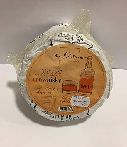 Queso al Whisky de cabra curado en Manteca Las Delicias Gourmet Collection 1 Kg