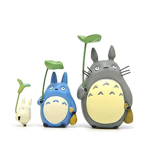 Baijian Mein Nachbar Totoro Figuren Toys kit, japanische Anime Miyazaki Studio Ghibli Geist entfernt Figuren Statue Modelle Puppen für DIY Micro Landschaft Dekorationen Kinder Geschenke