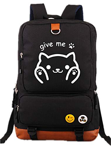 Anime Neko Atsume Cat Backyard Luminous Prints Rucksack Daypack Laptop Tasche Ranzen College Bag Buchtasche Schultasche
