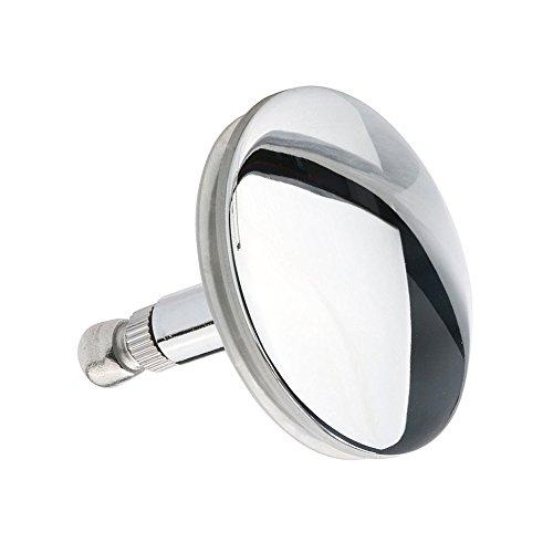 JUEYAN Badewannenstöpsel 45 mm Abflussstopfen Edelstahl Abfluss-Stopfen für Alle Handelsüblichen Abflüsse Silber