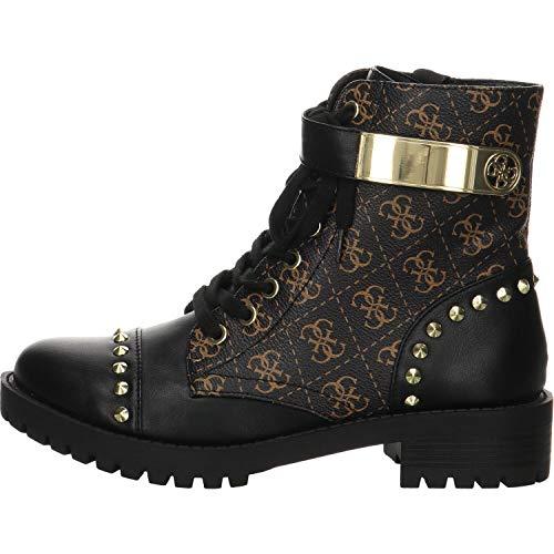 Guess Damen Haleigha Logo Low Boot Stiefeletten, Mehrfarbig Black Multi, 41 EU