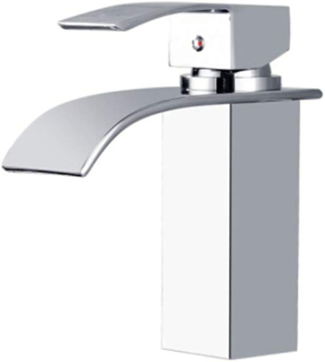 Faucet Waste Mono Spoutbathroom Faucet Cold and Hot Bathroom Cabinet Washbasin Waterfall Single Hole