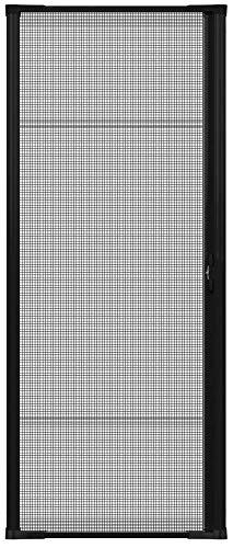 """Brisa Black Retractable Screen Door 96"""" Single"""