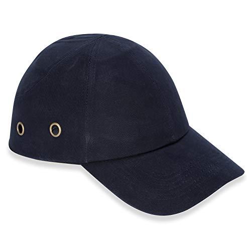 Mufly Anstoßkappe Sicherheitsmütze Baseball-Stil Sicherheitskappe Schutzkappe Anti-Schock Arbeitskappe,Kopfschutz Schutzkappe Stoßschutzkappe,Marineblau(6*air Hole)