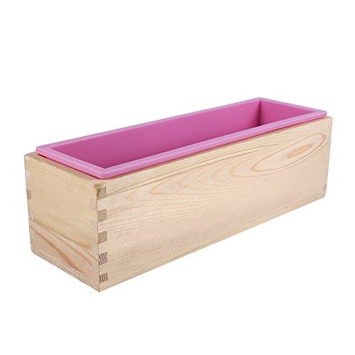 Flexibele zeep rechthoekige vorm, rechthoek siliconen voering zeep mal houten doos, DIY maken gereedschap, bakken taart brood toast mal
